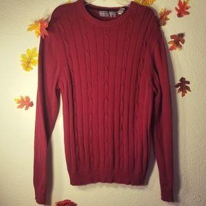 Oscar de la Renta dark red sweater